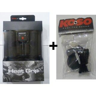 KOSO Heizgriffe Set  mit Daumengasheizung